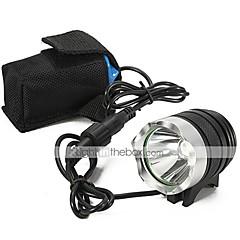 Frontfahrradlicht LT-0660 3-Modus CREE XM-L U2 LED-Fahrrad-Licht-Scheinwerfer Taschenlampe (2200lm.4x18650.black)