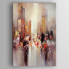 peinture à l'huile paysage abstrait moderne toile peinte main tendue encadrée