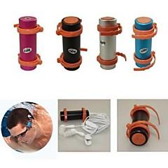 FM 라디오와 이어폰과 4기가바이트 방수 수영 다이빙 수중 스포츠 MP3 플레이어