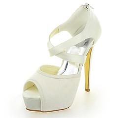 Women's Wedding Shoes Heels/Platform Sandals Wedding Black/Ivory/Silver/Champagne/Blue/Pink/Red/White