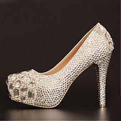 Women's Wedding Shoes Heels/Platform/Round Toe Heels Wedding Silver