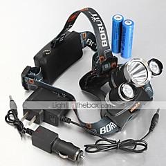 Scheinwerfer Fahrrad LT-00062 4-Modus 3xcree XM-L U2 LED (5300lm.2x18650.black)