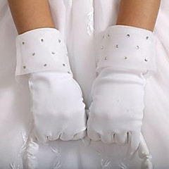 Wrist Length Fingertips Glove Satin Flower Girl Gloves Spring / Summer / Fall / Winter