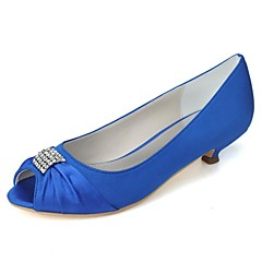 Women's Wedding Shoes Heels/Peep Toe Heels Wedding/Party & Evening Black/Blue/Pink/Purple/Red/Ivory/White/Silver