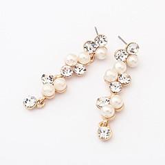 estilo europeo pendientes de perlas de boutique de moda