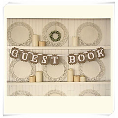 "Wedding Décor "" GUEST BOOK"" Bunting Shabby Chic Rustic Banner Garlands"