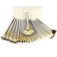 Hot Professional 24pcs Good Quality Charm Makeup Brushes Set Fondation Eyeshadow Cosmetic Tools with Leather Case