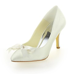 Dame Bryllup sko Hæler/Spiss tå høye hæler Bryllup Svart/Blå/Gul/Rosa/Lilla/Rød/Elfenbenshvit/Hvit/Sølv/Sjampagne