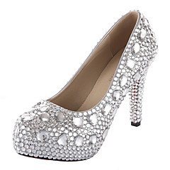 Women's Wedding Shoes Heels/Platform/Round Toe Heels Dress/Party & Evening Silver