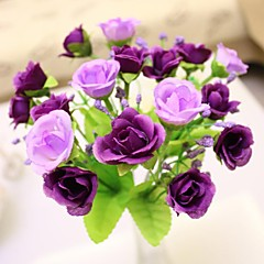 "7,9 ""l Satz 1 edlen 21 Köpfe multicolor Diamant Rosen Seidentuch Blumen (farblich sortiert)"
