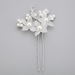 Women's Flower Girl's Crystal Alloy Imitation Pearl Acrylic Headpiece-Wedding Special Occasion Hair Pin