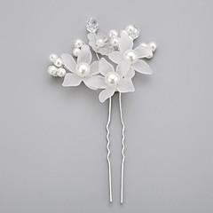 Mulheres Menina das Flores Crostal Liga Imitação de Pérola Acrilíco Capacete-Casamento Ocasião Especial Alfinete de Cabelo
