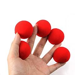 魔法の小道具 - 赤いスポンジボール(5個)