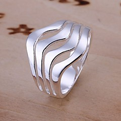 Ring Wedding / Party / Daily / Casual Jewelry Sterling Silver Women Statement Rings 1pc,8 Silver