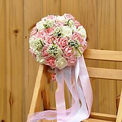 esküvői csokor pe selyem ruha romantikus esküvő menyasszony gazdaság virágok