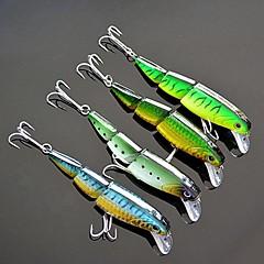 """4 Stück Harte Fischköder kleiner Fisch Angelköder Harte Fischköder kleiner Fisch Grün Waldgrün Blau Zufällige Farben g/Unze,100 mm/4"""" Zoll"""