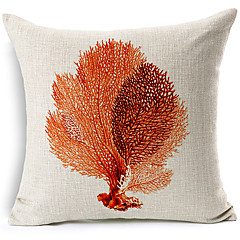moderne stil havet blade mønstret bomuld / linned dekorative pudebetræk