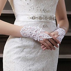 Lace/Voile Wrist Length Fingerless Wedding/Party Glove