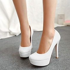 Women's Shoes Leather Stiletto Heel Round Toe Pumps/Heels Wedding Shoes More Colors available