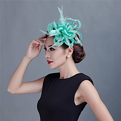 Femme / Jeune bouquetière Plume / Tulle Casque-Mariage / Occasion spéciale / Décontracté / Extérieur Fleurs
