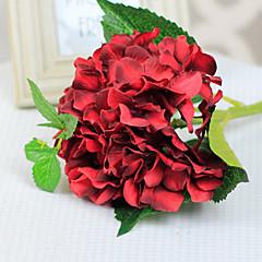 rode hortensia met knop kunstbloemen set 2