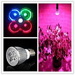 5W E26/E27 LED-kweeklampen MR16 3 Krachtige LED 500 lm Natuurlijk wit / Rood / Blauw / Groen AC 85-265 V 1 stuks