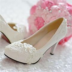 Hvid - Dame - Bryllup Sko - Bryllup / Fest/aften - høje hæle - Hæle / Spids tå
