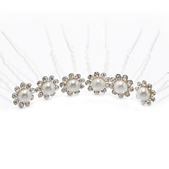 Dame Rhinestone / Legering / Imitert Perle Headpiece-Bryllup / Spesiell Leilighet Hårspenne 6 deler