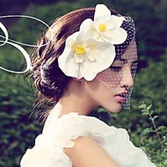 Vrouwen satijn / Net Helm-Bruiloft / Speciale gelegenheden Fascinators / Bloemen 1 Stuk