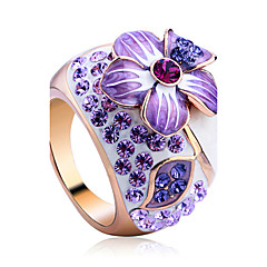 Statement Rings Crystal Alloy Fashion Luxury Jewelry Jewelry Party 1pc