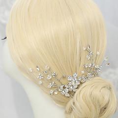 Vrouwen / Bloemenmeisje Bergkristal / Kristallen / Licht Metaal Helm-Bruiloft / Speciale gelegenheden Haarkammen 1 Stuk Helder
