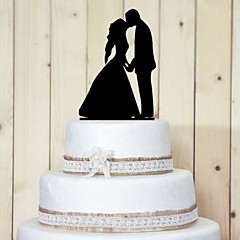 Cake Toppers Classic Couple Acrylic Sweet Kissing Cake Topper
