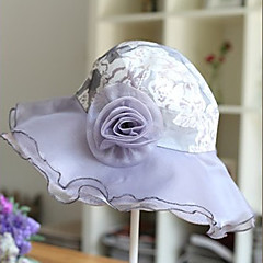 Gray Gorgeous Organza With Sequin Wedding/ Partying/ Honeymoon Hat