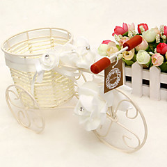 Rattan Bicycle Flower Vase Basket Candy Containers for  Home Centerpiece Desk Decoration  Table Deocrations
