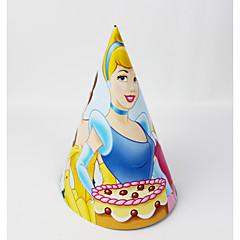 hercegnő papír kalap 12db