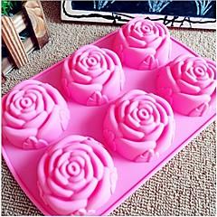 divat csoki tortát díszítő eszközöket szilikon öntőforma jég szappannal zselés hogy mintát konyha bakeware eszközök (véletlenszerű szín)