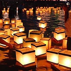 vand flydende stearinlys lanterne biologisk nedbrydeligt (15 * 15 cm)