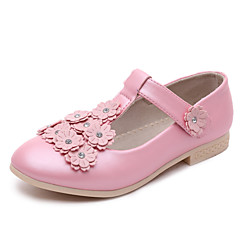 Girls' Shoes Wedding Closed Toe Faux  Flats Black/Pink/White