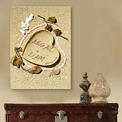 E-HOME® Personalized Signature Canvas Frame-Heart in Sand