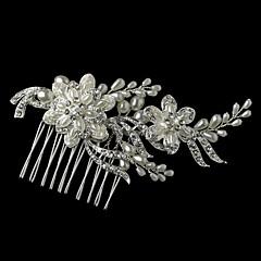 成人用 フラワーガール 純銀 合金 人造真珠 かぶと-結婚式 パーティー コーム コサージュ 1個
