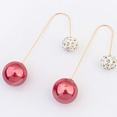 Women's Fine Fashion Elegant Exquisite Pearl Drop Earrings With Multi-stone/Rhinestone