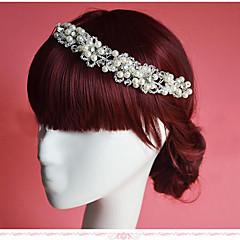 Vrouwen / Bloemenmeisje Bergkristal / Imitatie Parel Helm-Bruiloft / Speciale gelegenheden Bloemen 1 Stuk