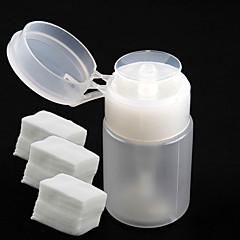 pompe à 1pc bouteille de distributeur pour nail art liquides de Dégraissant + 300pcs ongles outils de l'art art décapant coton ongles