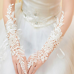 Elbow Length Fingerless Glove Lace Bridal Gloves / Party/ Evening Gloves Spring / Summer / Fall White / Ivory