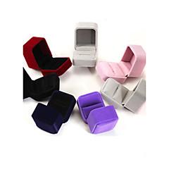 6 * 5 * 4 centímetros de flanela / brincos / anel / caixas de jóias 1pc