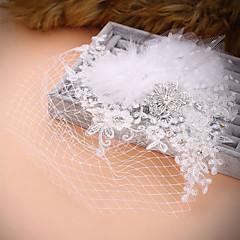 Mulheres Acrilíco Capacete-Casamento Ocasião Especial Flores Véus de Rede 1 Peça