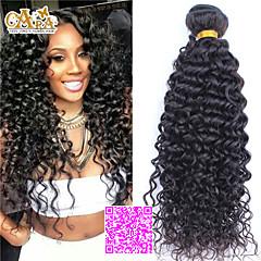 3pcs שיער שחור הרחבות 5a הרבה מעובד מלזי שיער מתולתל בתולת אדם שיער טבעי שוזר