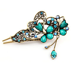 Vintage Style Butterfly Shape Alloy Hair Pin(Five Colors)(1Pc)
