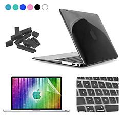 Enkay 4 en 1 Crystal Case + protecteur d'écran + clavier + film anti-poussière bouchons de protection dur pour MacBook Air 13,3 pouces