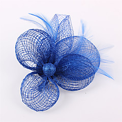 Handmade Sinamay  Feather Flower Brooch Fascinators Clip Headpiece (more colors)